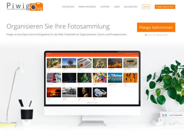 screenshot piwigo.org homepage