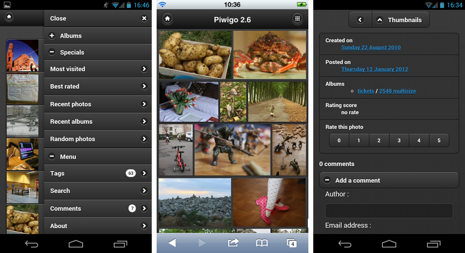 http://piwigo.org/screenshots/piwigo-2.6-mobile-new-features.png
