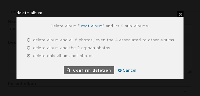 http://piwigo.org/screenshots/piwigo-2.9-album-deletion-options.png