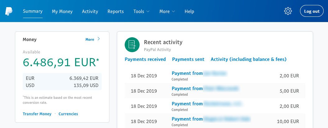 screenshot-of-Piwigo-PayPal-account